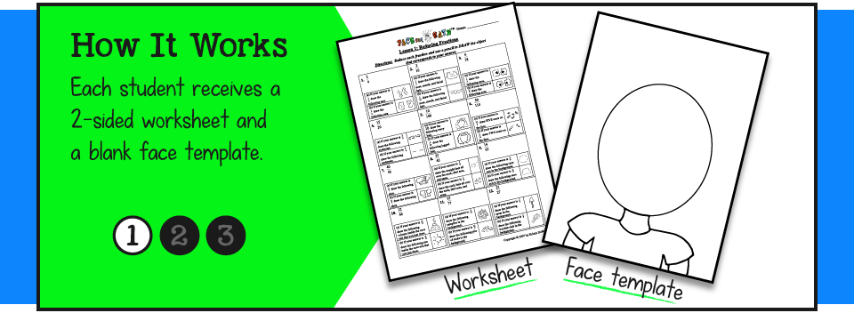 Worksheets Face Math Worksheets math worksheets face preschool and faceing a unique standards based blend of